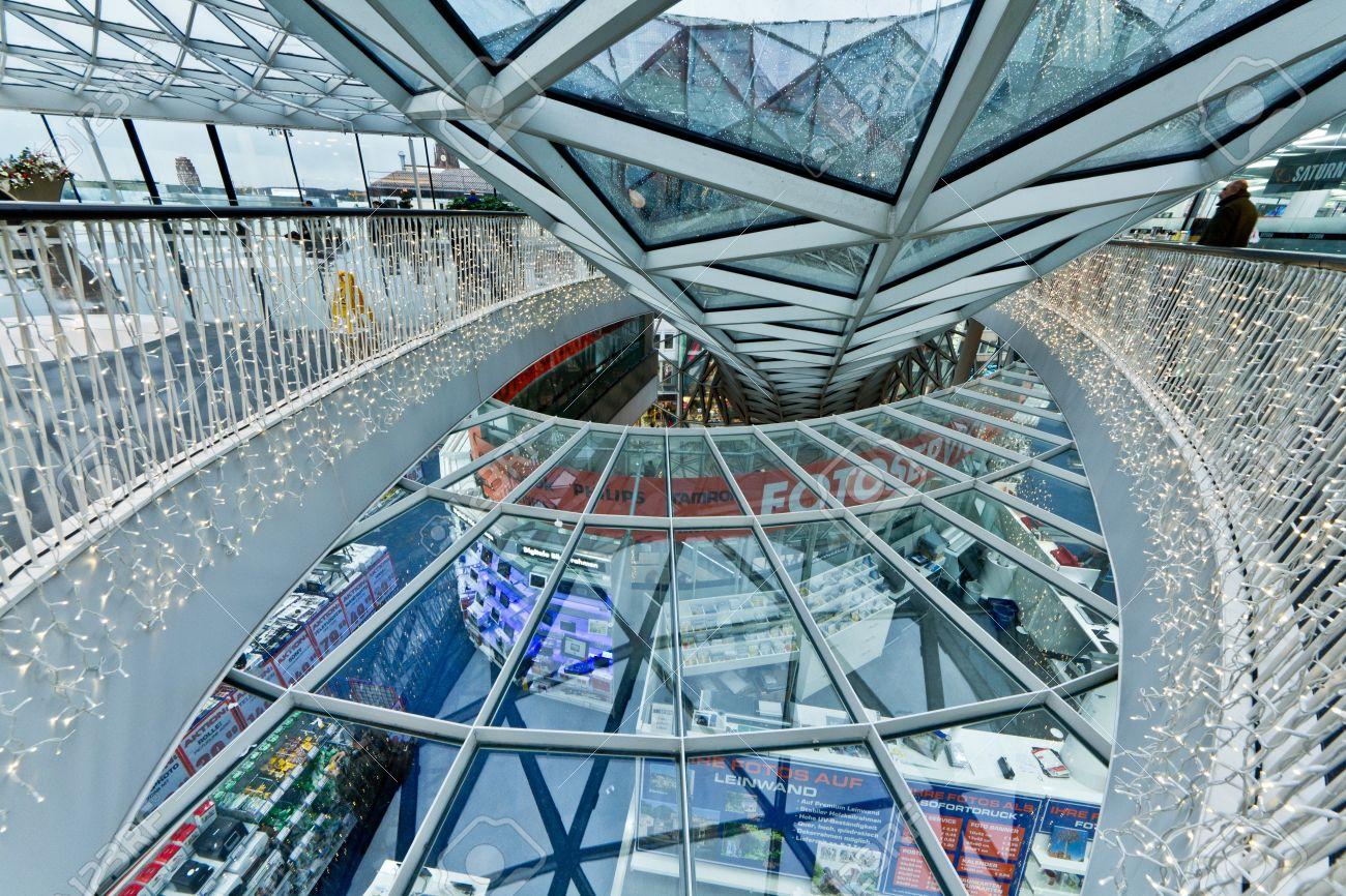 Interior Frankfurt the interior of myzeil shopping mall in frankfurt germany stock