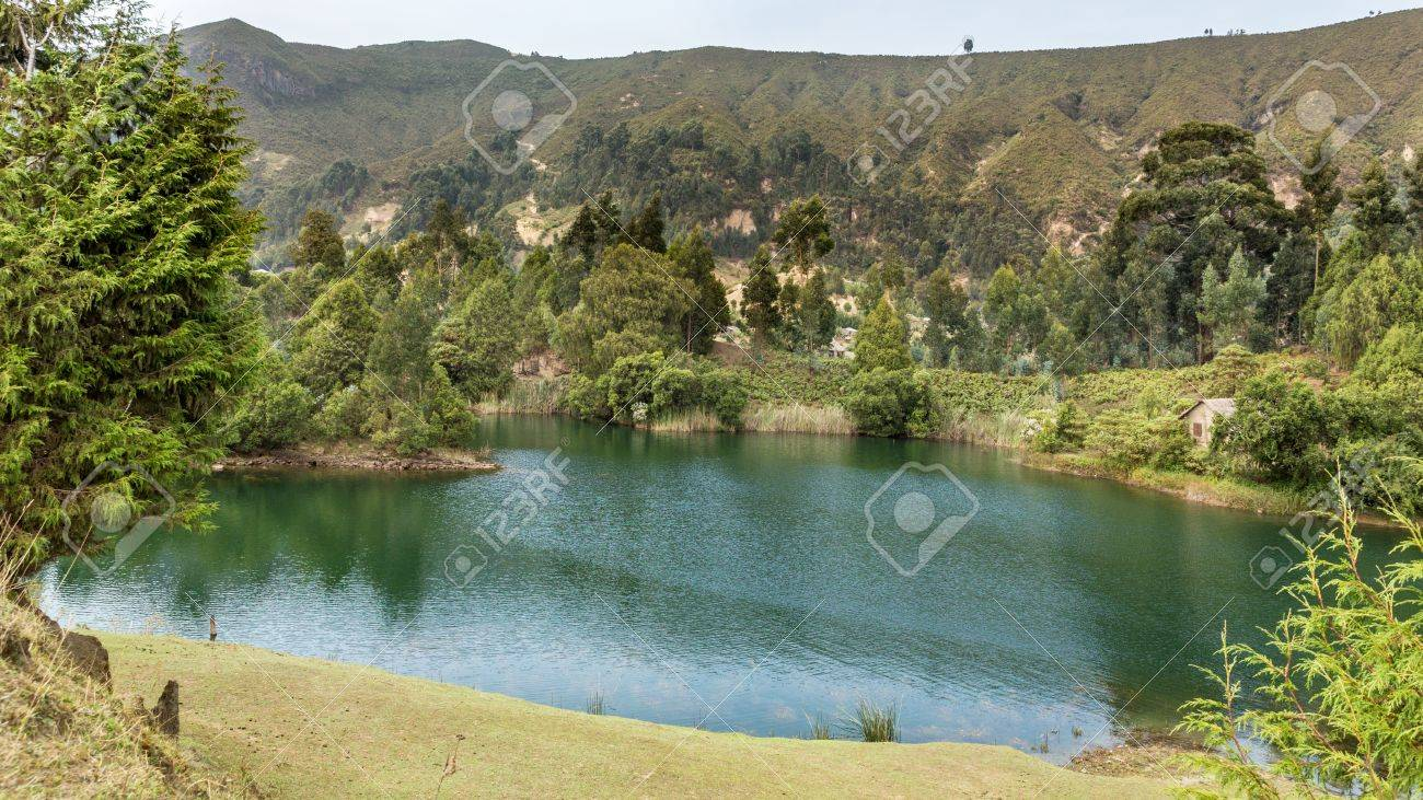 Beautiful Wonchi crater lake situated in Oromia Regional state