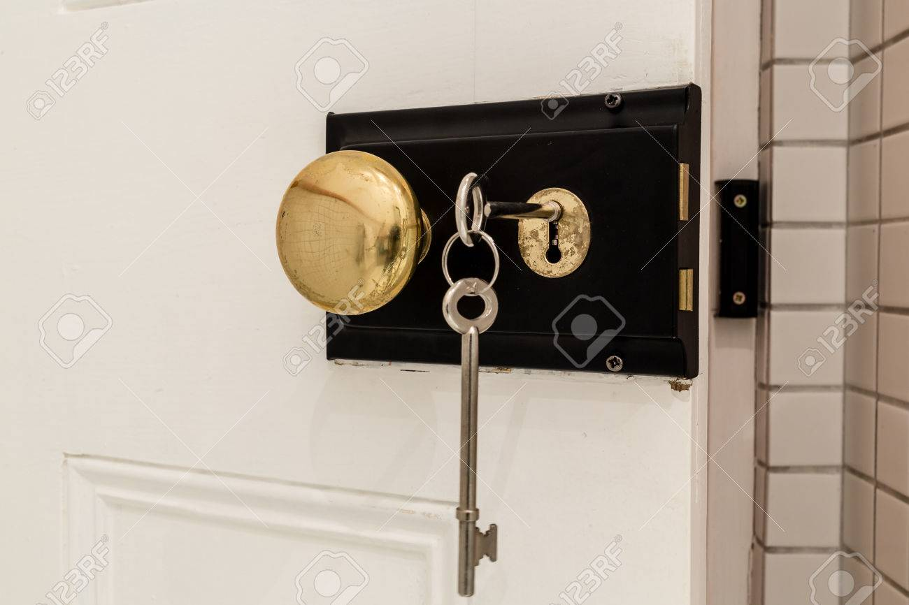 An old antique door lock with long keys and a round knob Stock Photo -  29452695 - An Old Antique Door Lock With Long Keys And A Round Knob Stock Photo