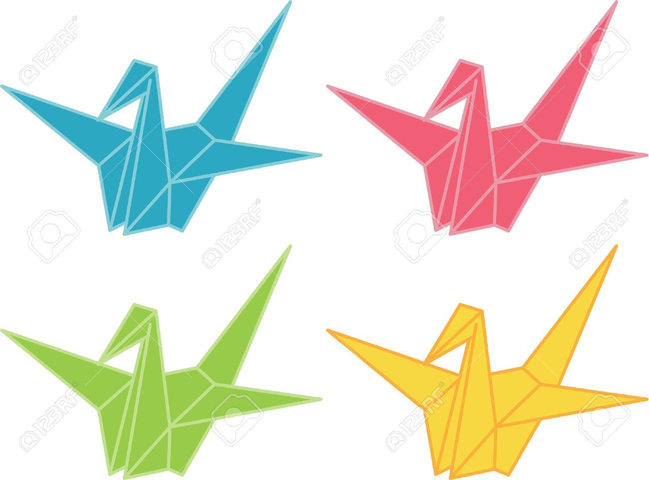 Origami Cranes Illustration Stock Vector