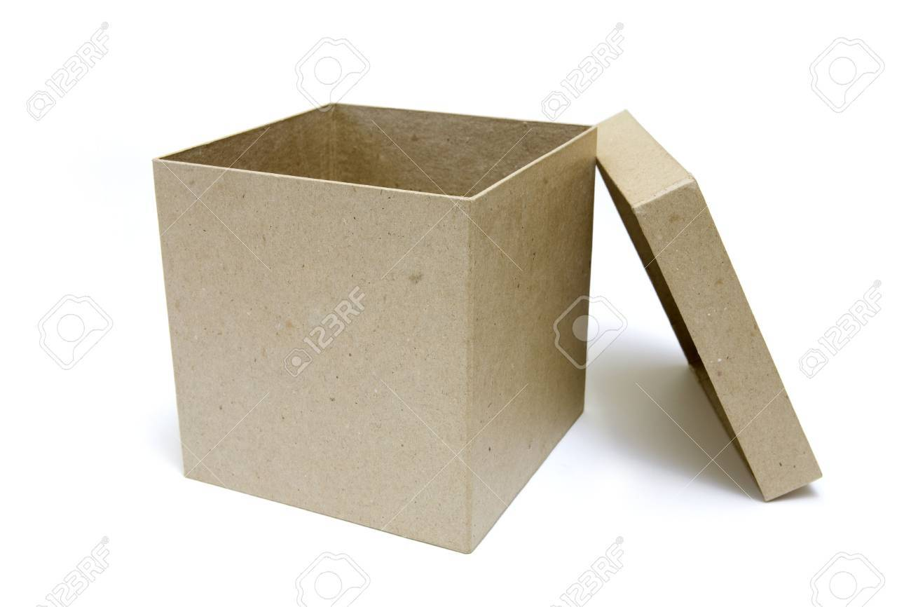 Open box on white background Stock Photo - 6050706