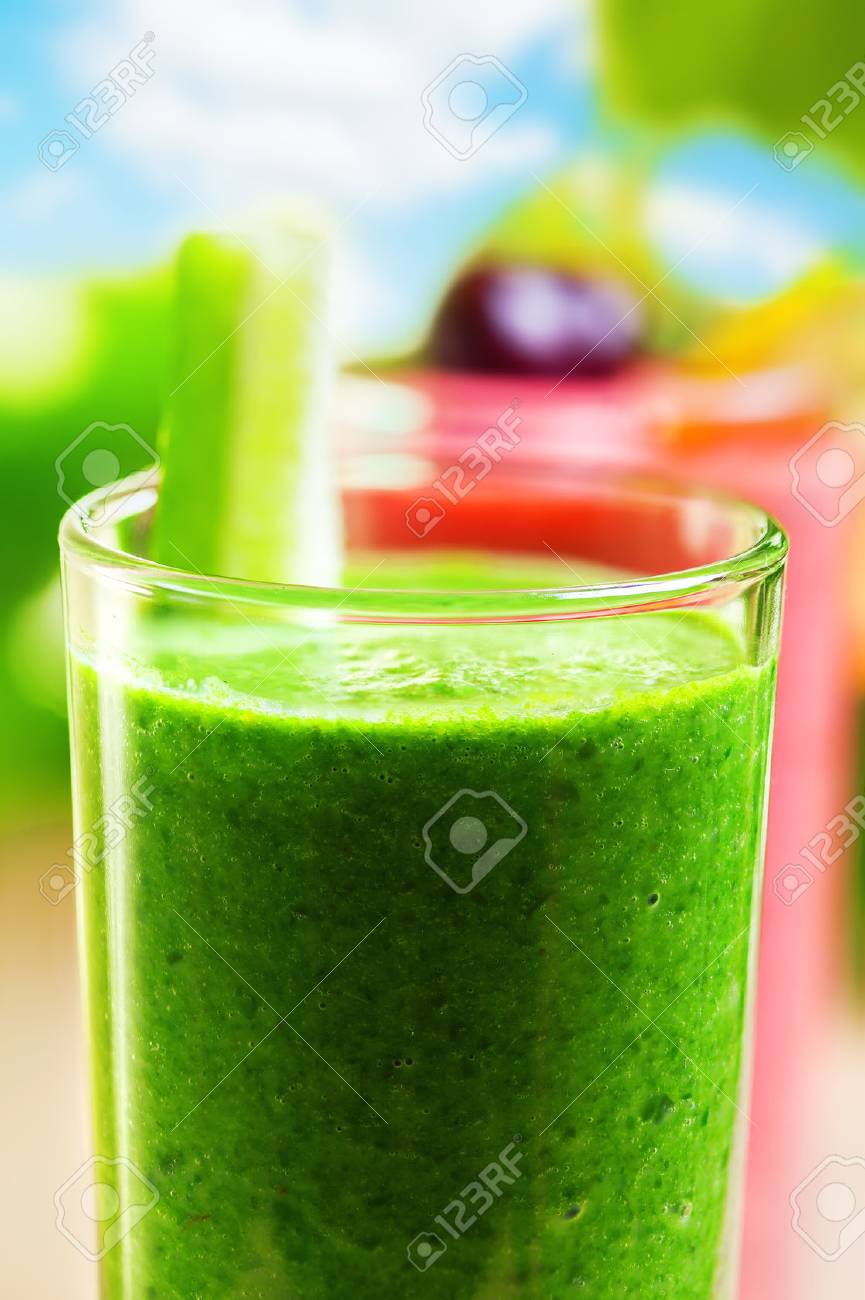 Summer drink, smoothie shakes, outdoor Stock Photo - 28356486
