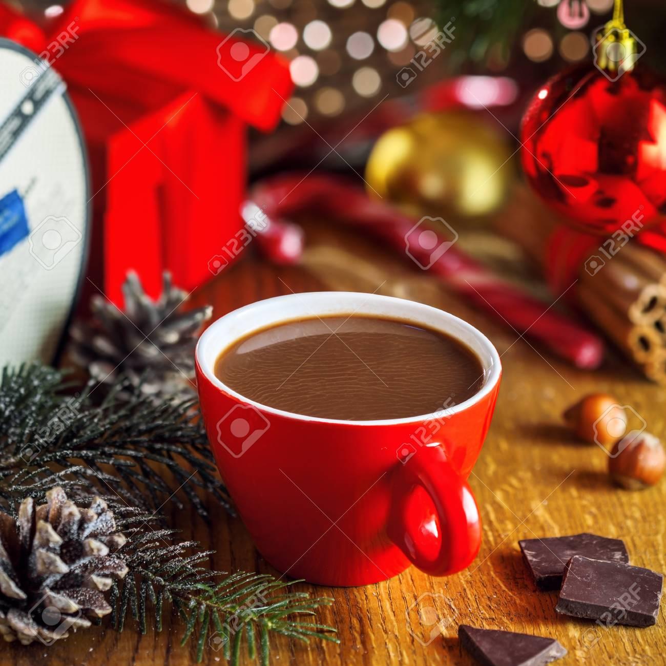 Traditionelle Weihnachtliche Heiße Schokolade Getränk Und Geschenk ...