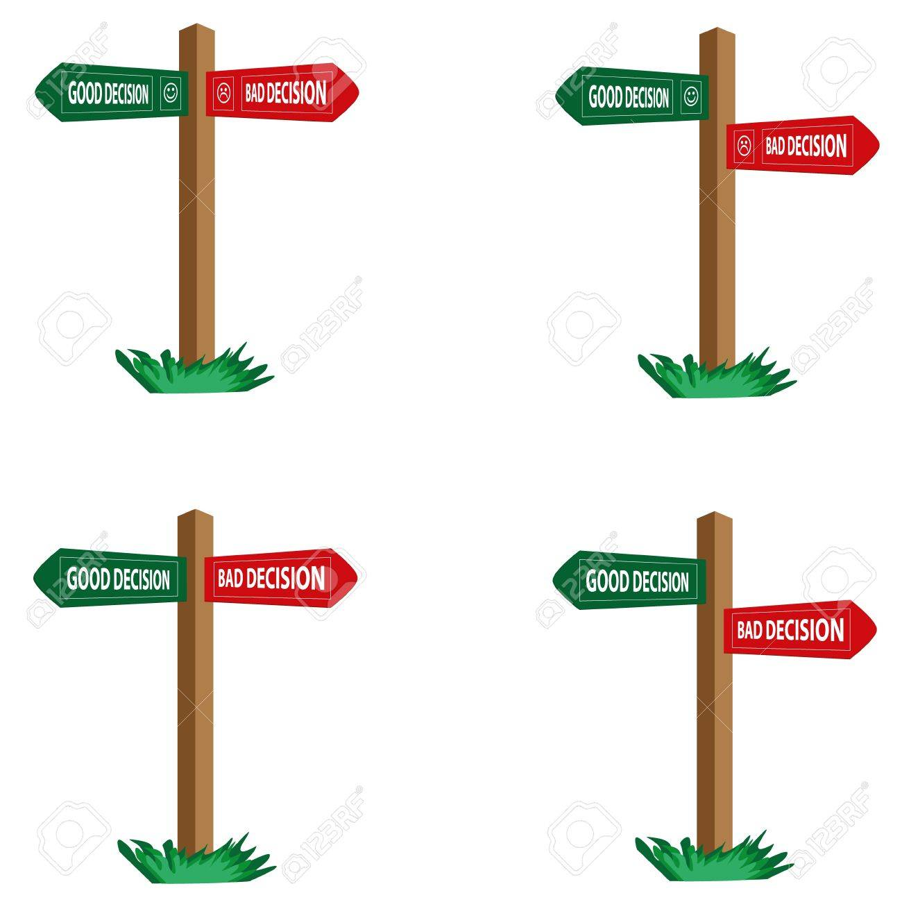 Decision Signs Stock Vector - 22086486