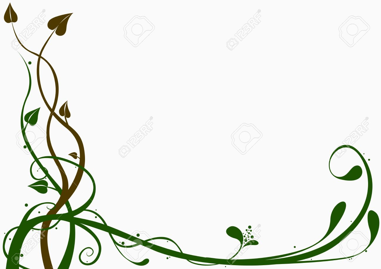 Floral Decoration floral decoration 04 - brown and green ornamental decoration stock