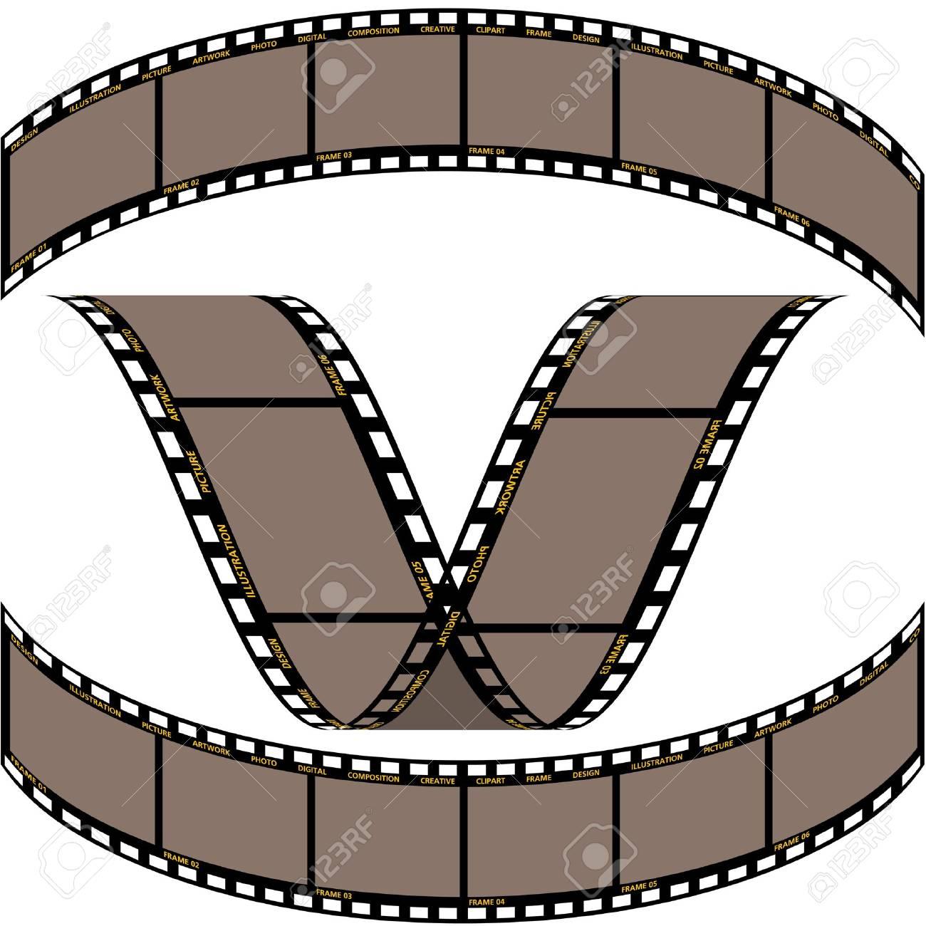 Film strip B - detailed vector illustration Stock Vector - 1447445