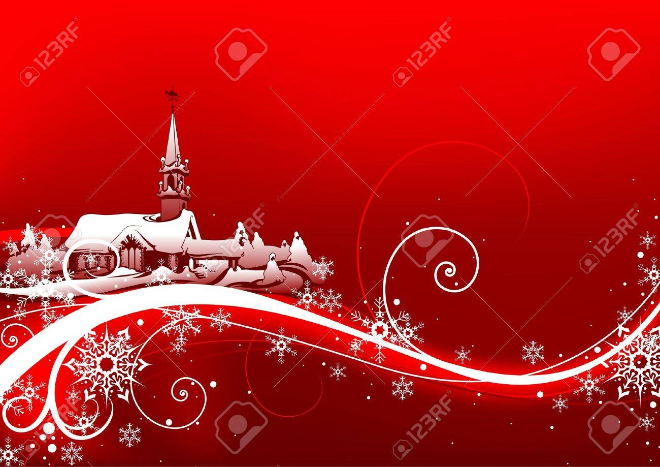 Abstract red xmas - Highly detailed vector illustration Stock Vector - 1456392