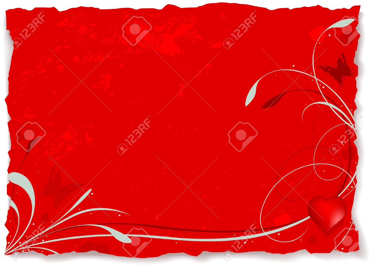 Abstract valentine A - valentines vector grunge illustration Stock Vector - 1484031