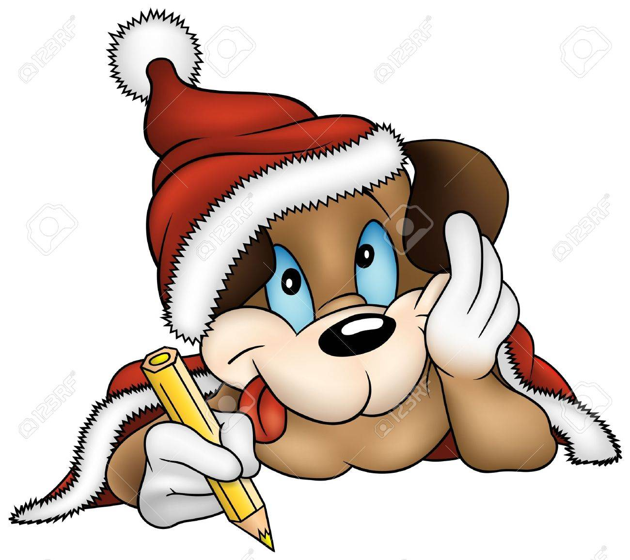 Christmas And Puppy Dog Vector Cartoons Illustration Royalty Free Cliparts Vectors And Stock Illustration Image 1769553