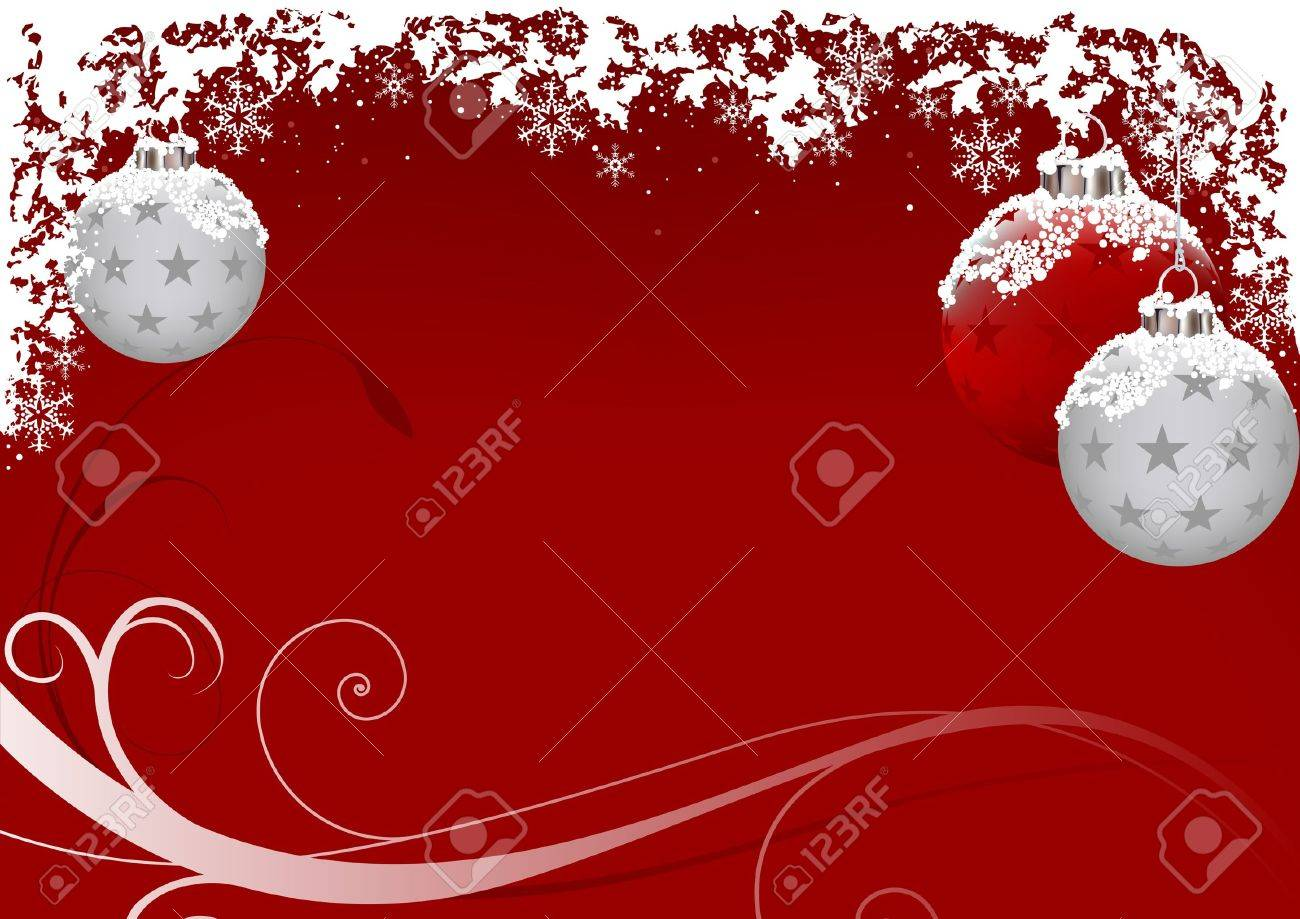 Xmas Red Frost - vector as christmas background Stock Vector - 1796250