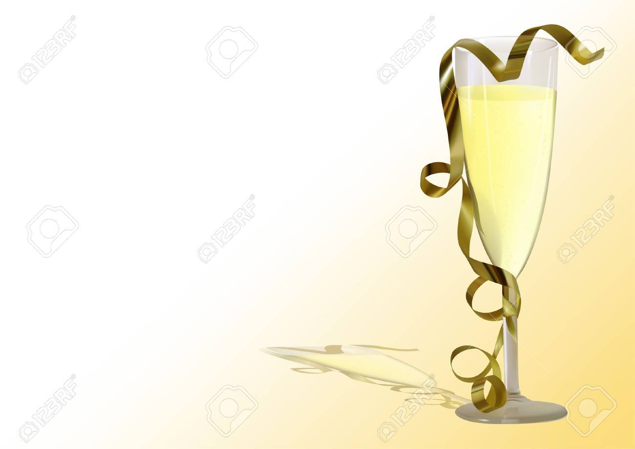 Champagne Toast - photorealistic illustration - vector Stock Vector - 2038521