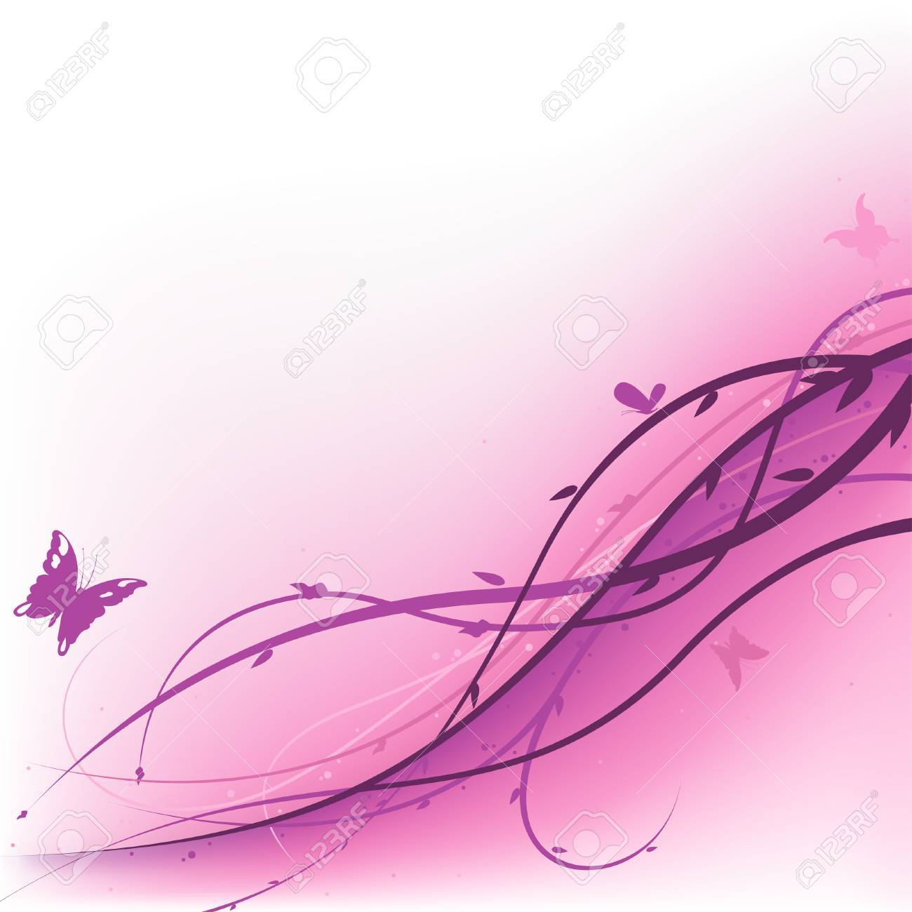 Purple Summer Floral - background illustration as vector. Stock Vector - 2920623