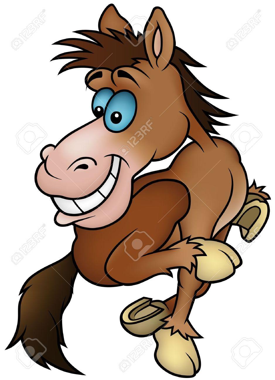 Running Horse - cartoon illustration Stock Vector - 6272549