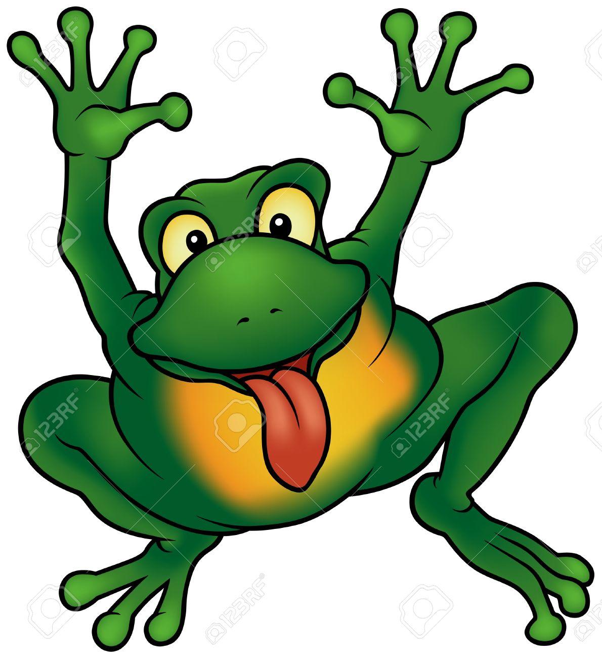 happy frog cartoon illustration detailed royalty free cliparts