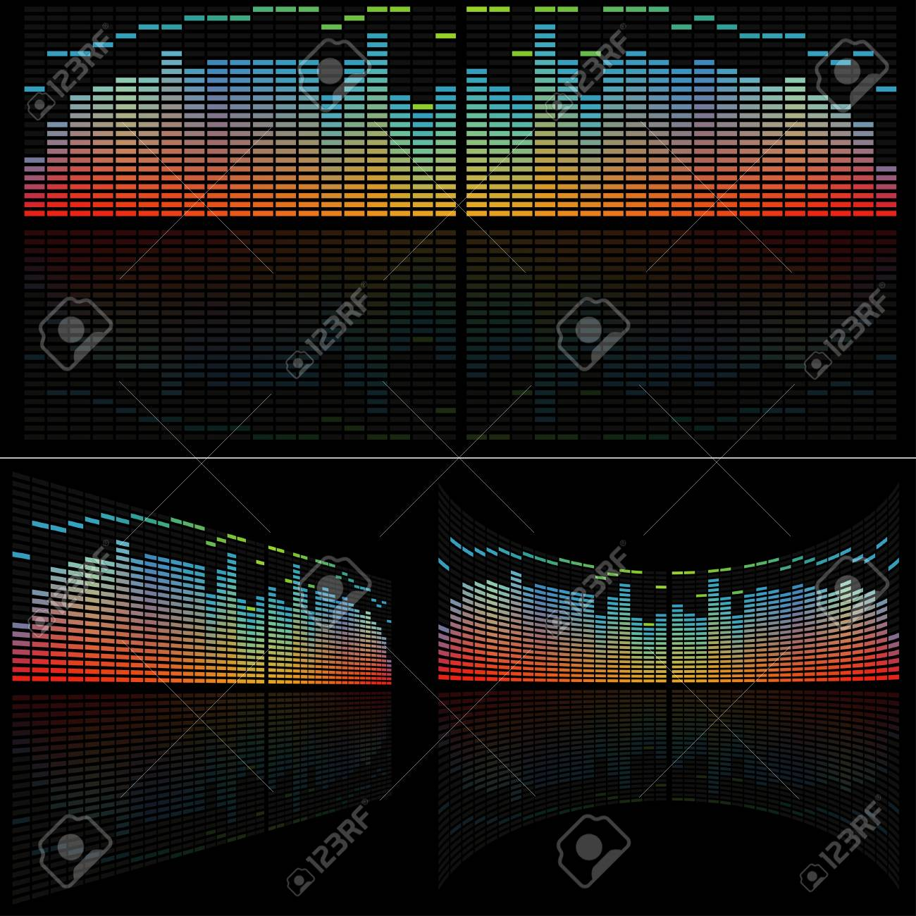 LED Analyzer Set - colored background illustration, vector Stock Vector - 7775517