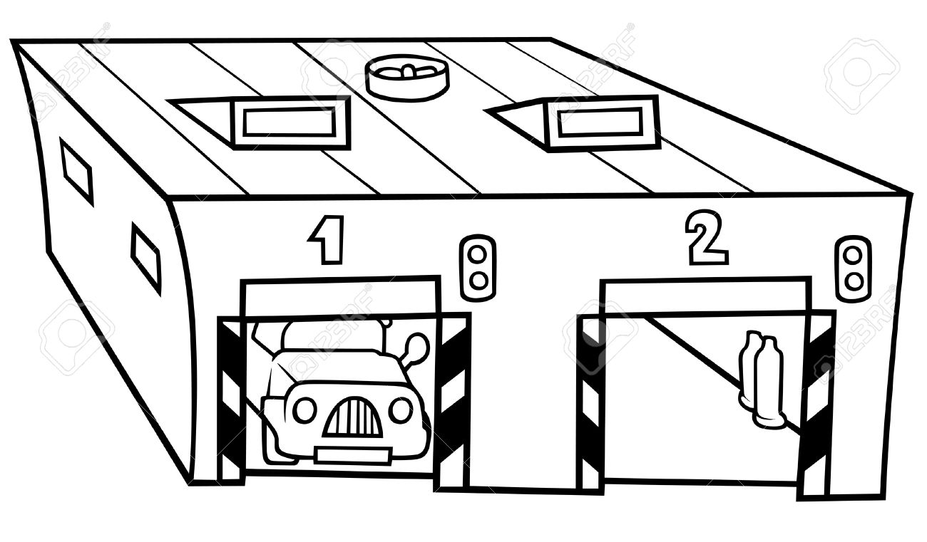 Garage Clipart Black And White Garage Black And White