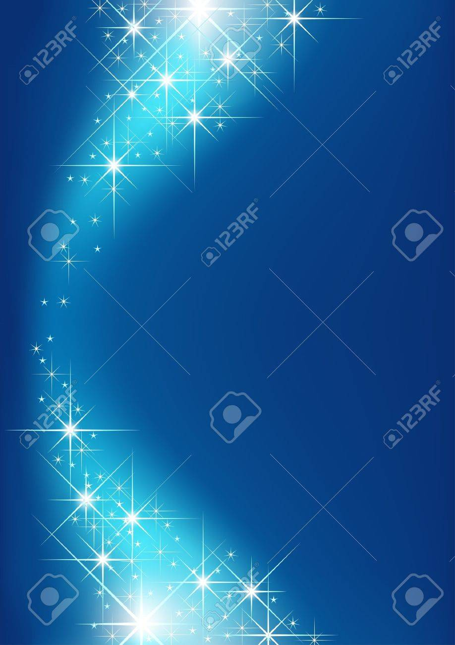 Starry Background - Blue Background and Stars as Illustration, Vector Stock Vector - 10751290