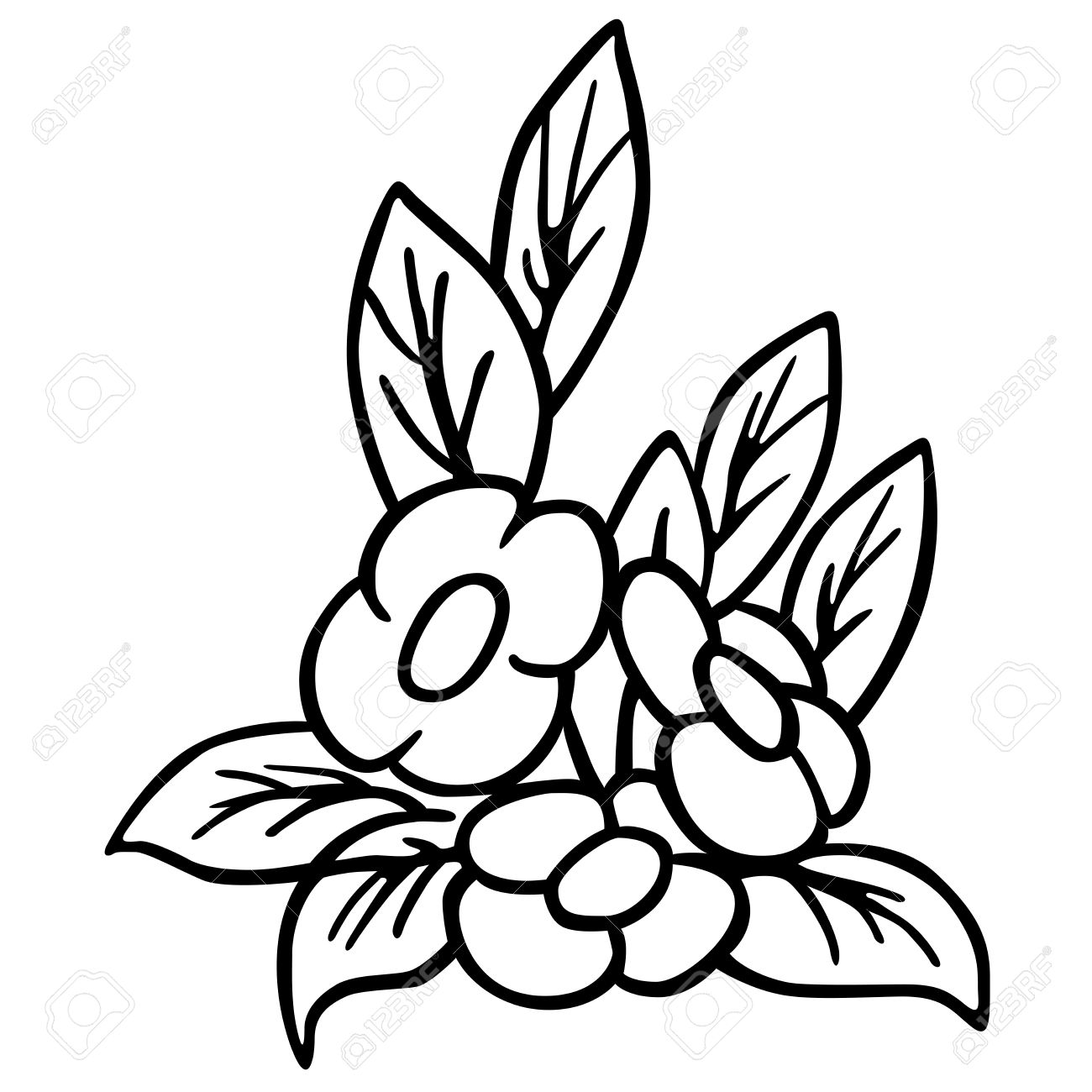 Flower Black And White Cartoon Illustration Royalty Free Cliparts
