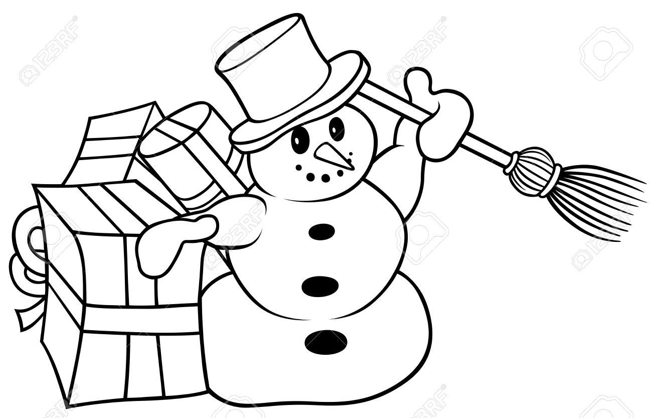 Weihnachten Clipart Schwarz Weiß