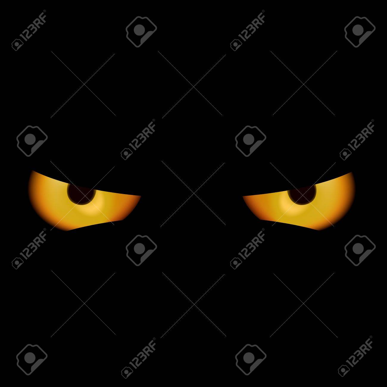 Devil Eyes - Spooky Background Illustration Stock Vector - 15651766
