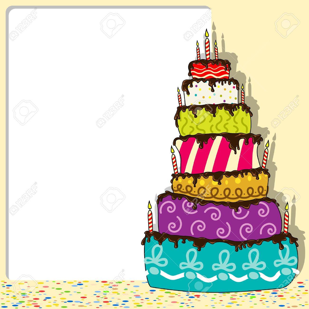 Birthday Cake - Celebration Background Illustration
