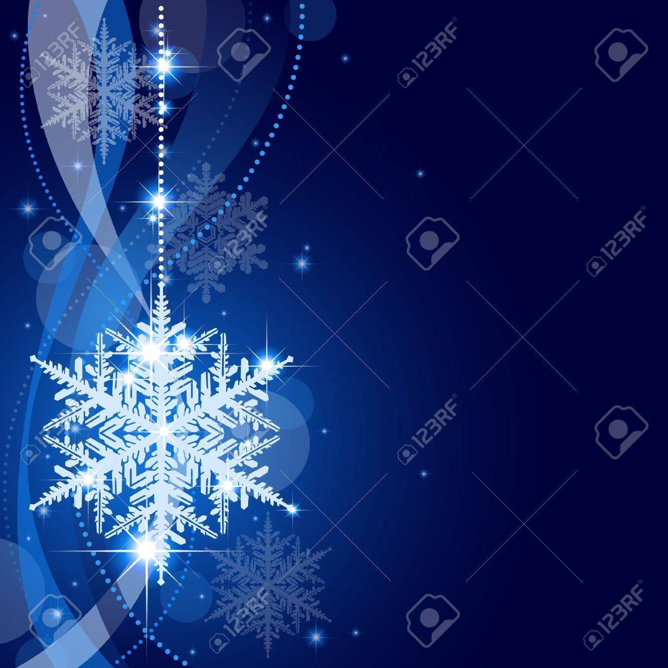Winter Christmas Background - Abstract Xmas Illustration Stock Vector - 16310788