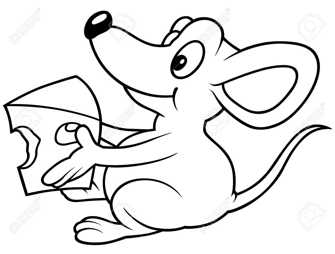 Käse clipart schwarz weiß  Maus, Die Käse - Schwarz-Weiß-Karikatur Lizenzfrei Nutzbare ...