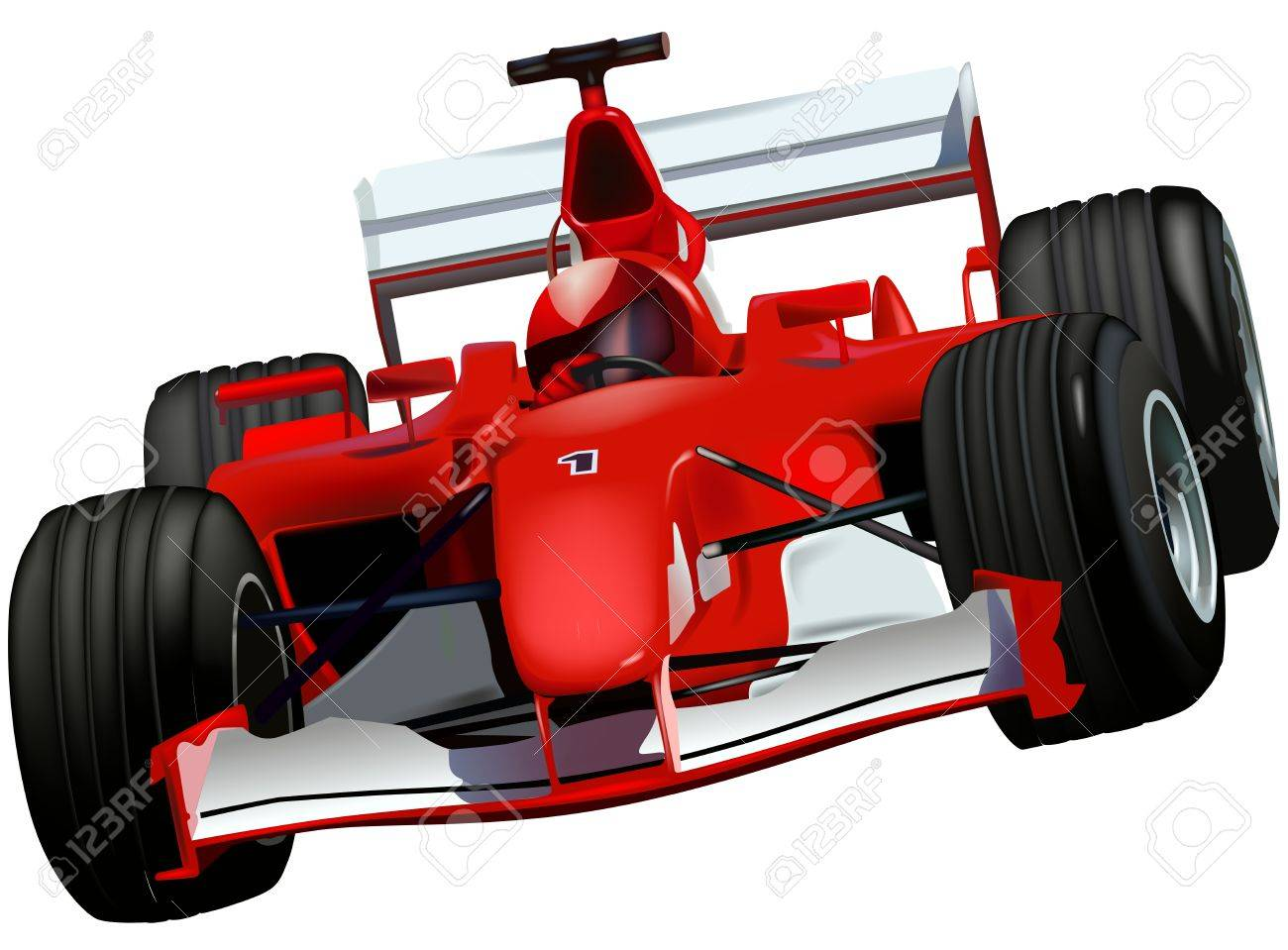 Race Car Colored Illustration Royalty Free Cliparts Vectors