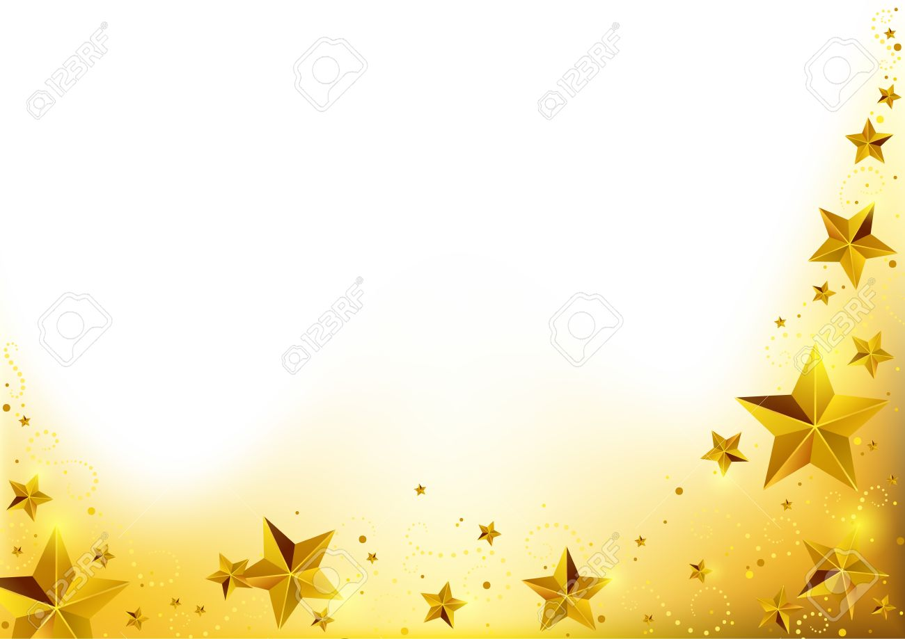 Christmas Gold Starry Background - Abstract Xmas Illustration, Vector - 33284757
