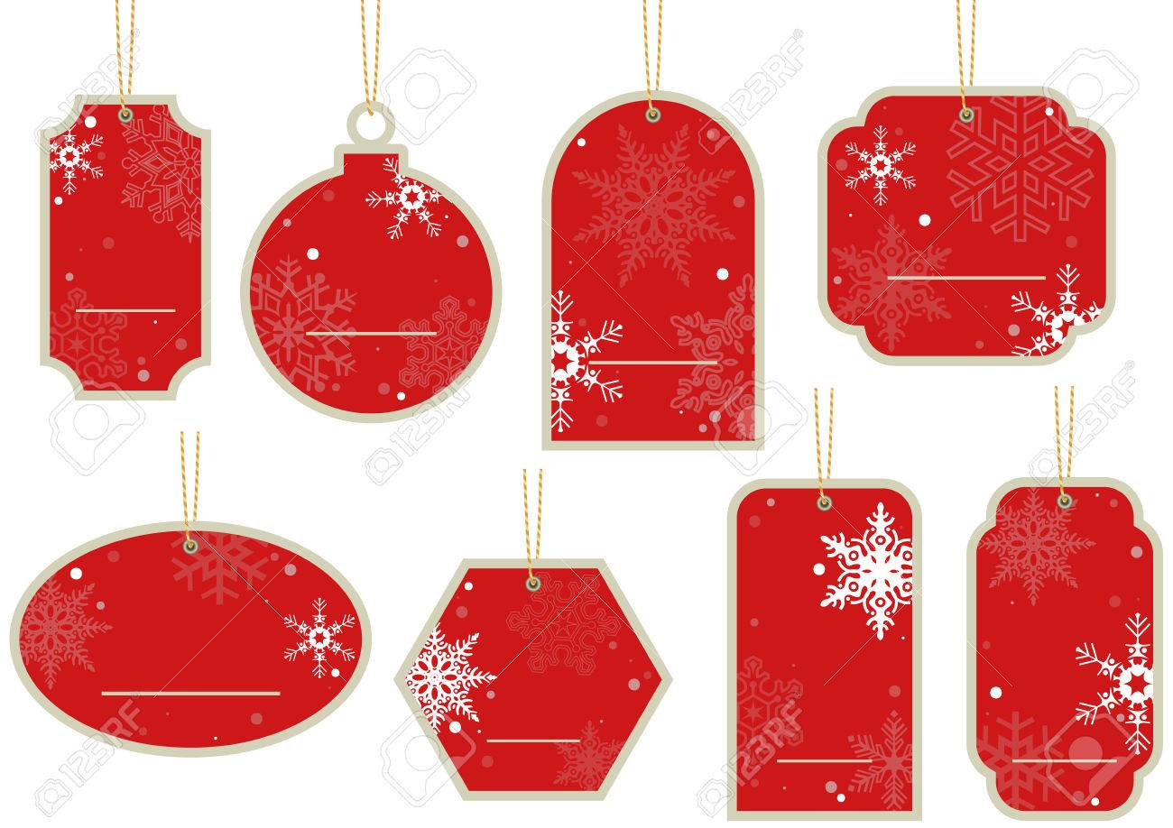cce30705836 Foto de archivo - Navidad Etiqueta de precio - colgando Red Label Conjunto