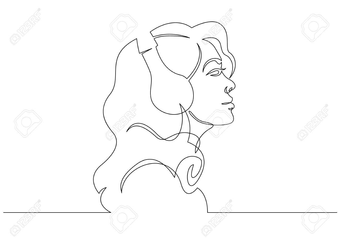 Line Art Abstract Woman