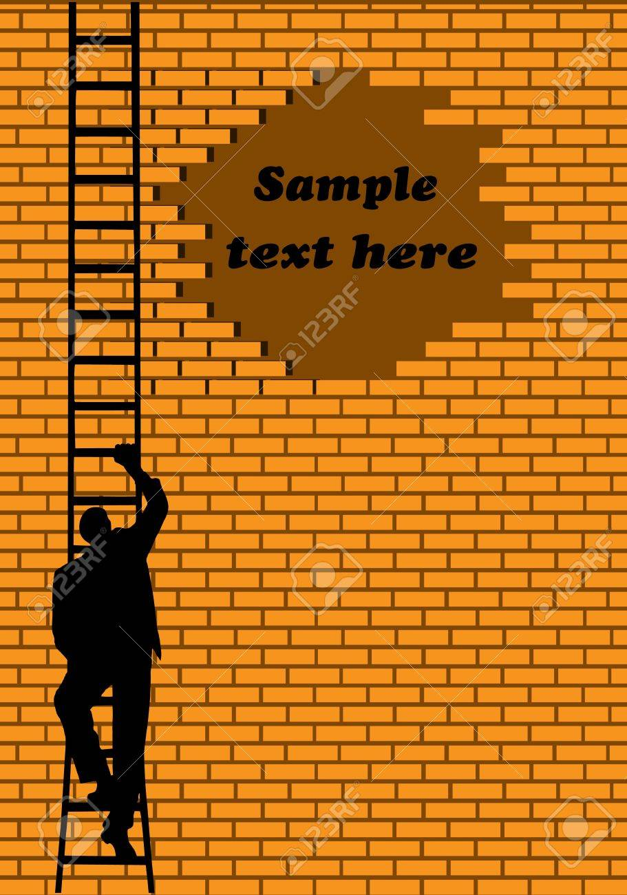 businessman going on a ladder Stock Vector - 15751568