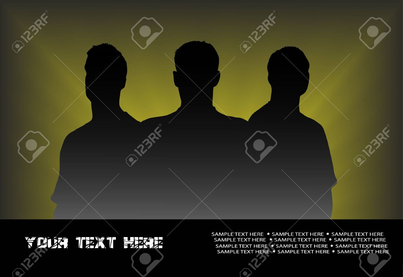 silhouette of group of people Stock Vector - 15887907