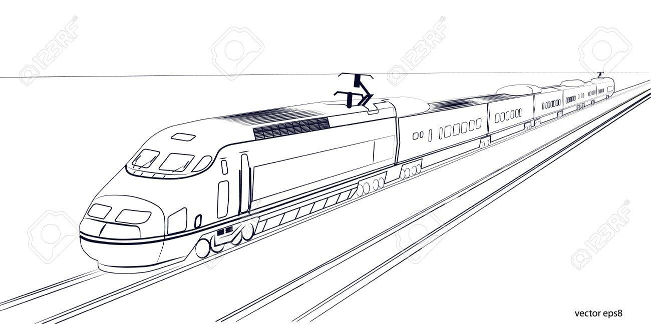 High Speed Train Royalty Free Cliparts Vectors And Stock