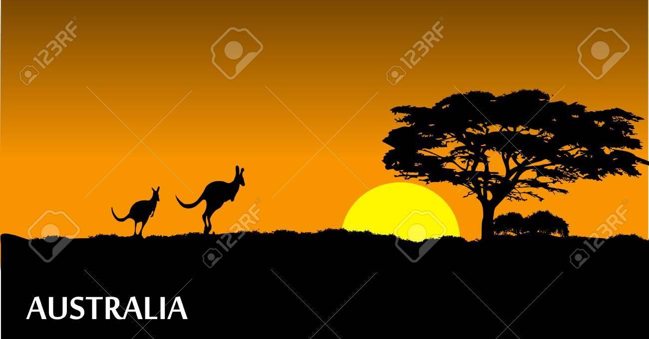 Australian savanna Stock Vector - 15888201
