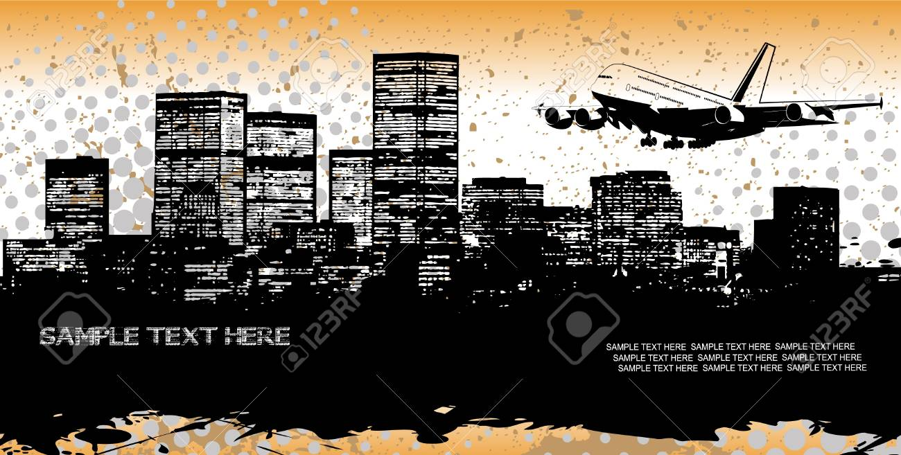 abstract panorama of the city Stock Vector - 15888238