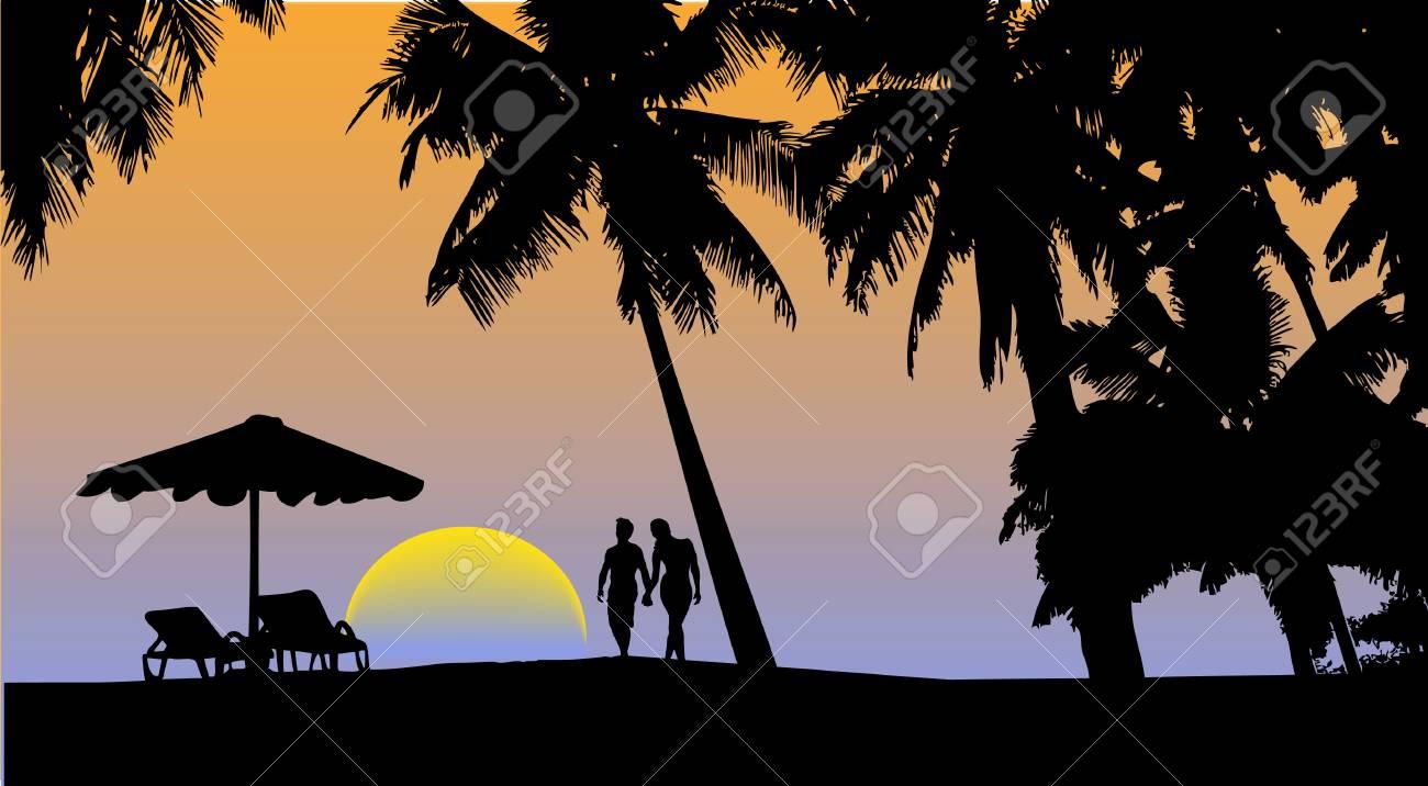 marine sunset Stock Vector - 16007625
