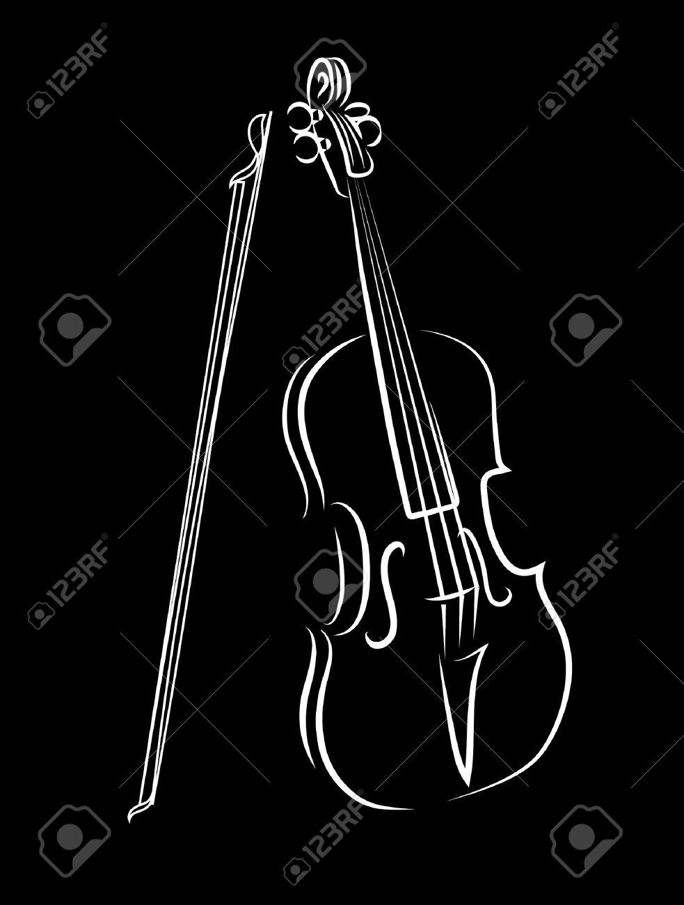 Violin stock vector 16007641