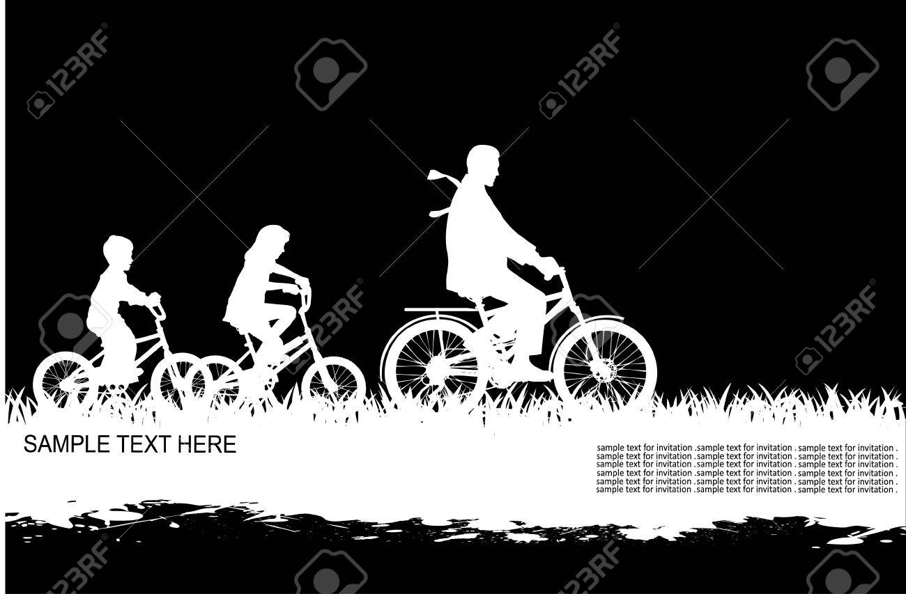 Silhouette father plays with the child Stock Vector - 16007621