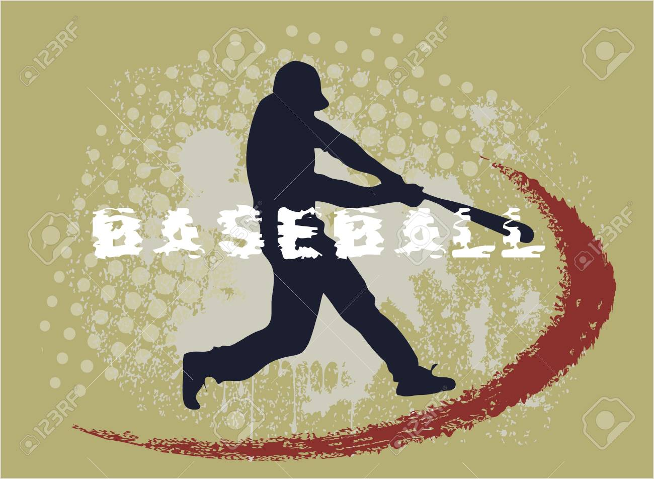 athlete on grunge background Stock Vector - 15992126