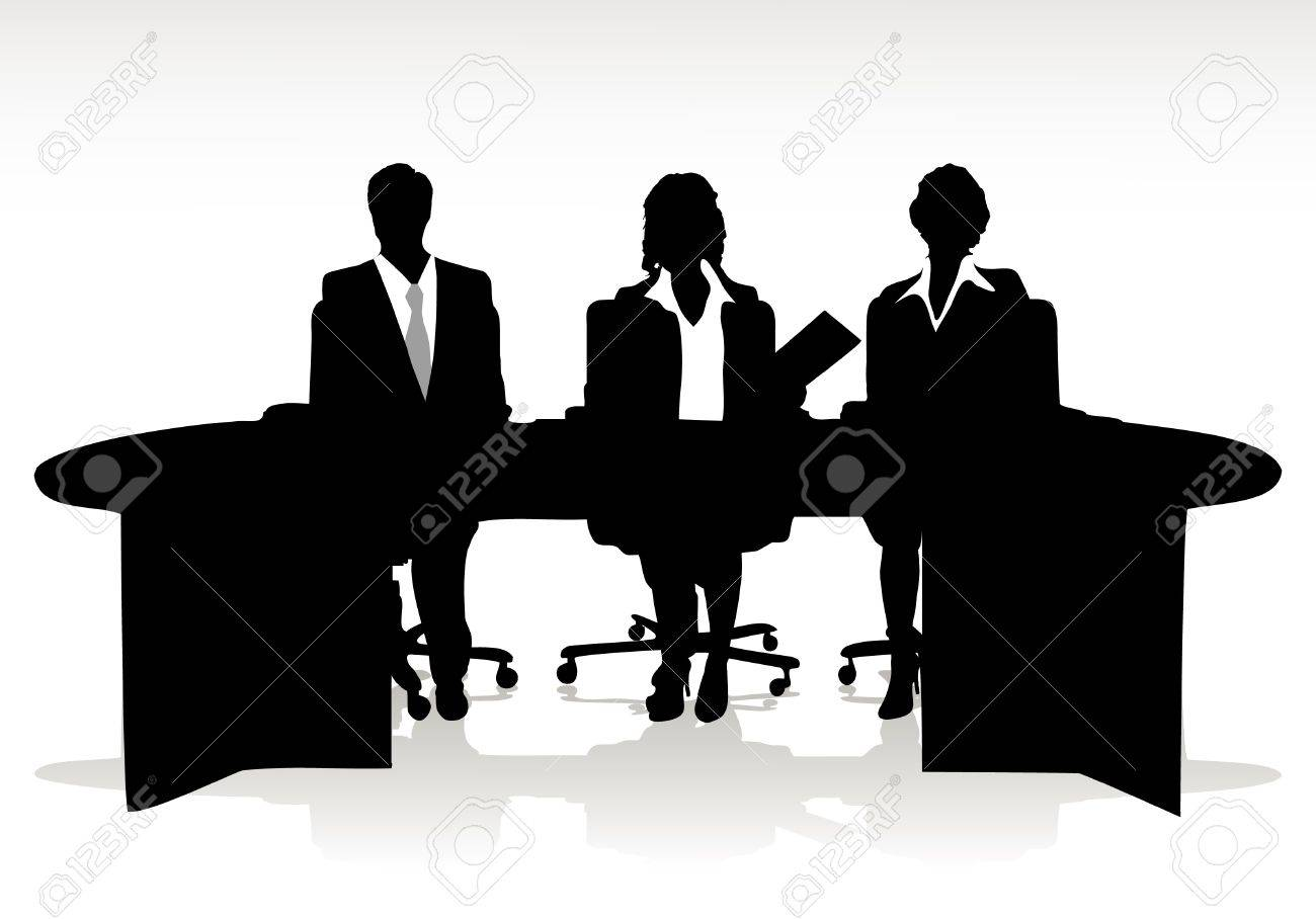 guide sitting at the table Stock Vector - 16102977