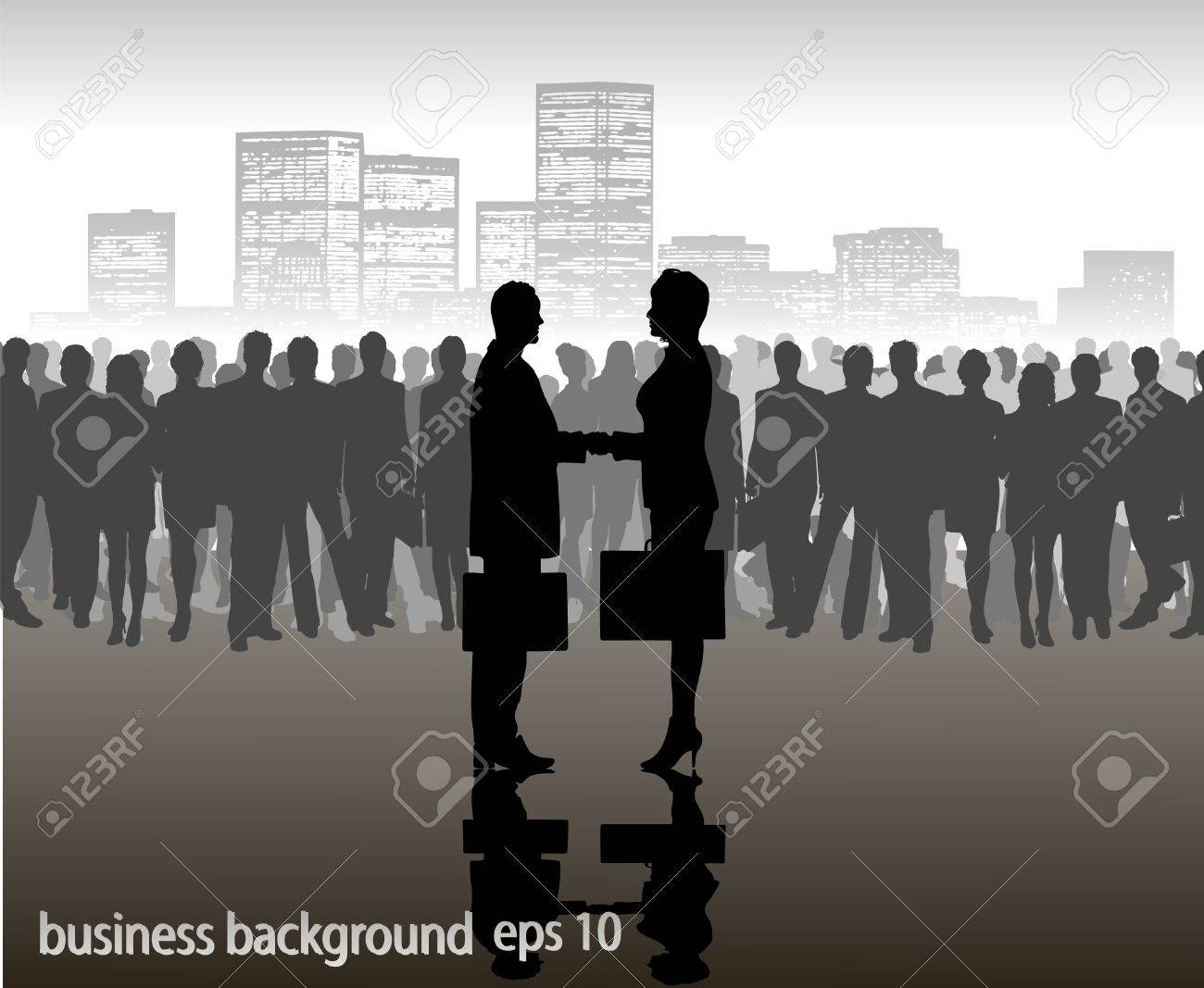on the image the meeting of two businessmen is presented Stock Vector - 16103002