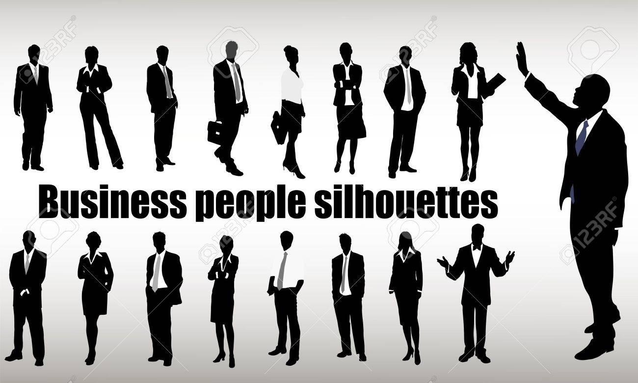 ビジネスマンのシルエットのイラスト素材ベクタ Image 16215196