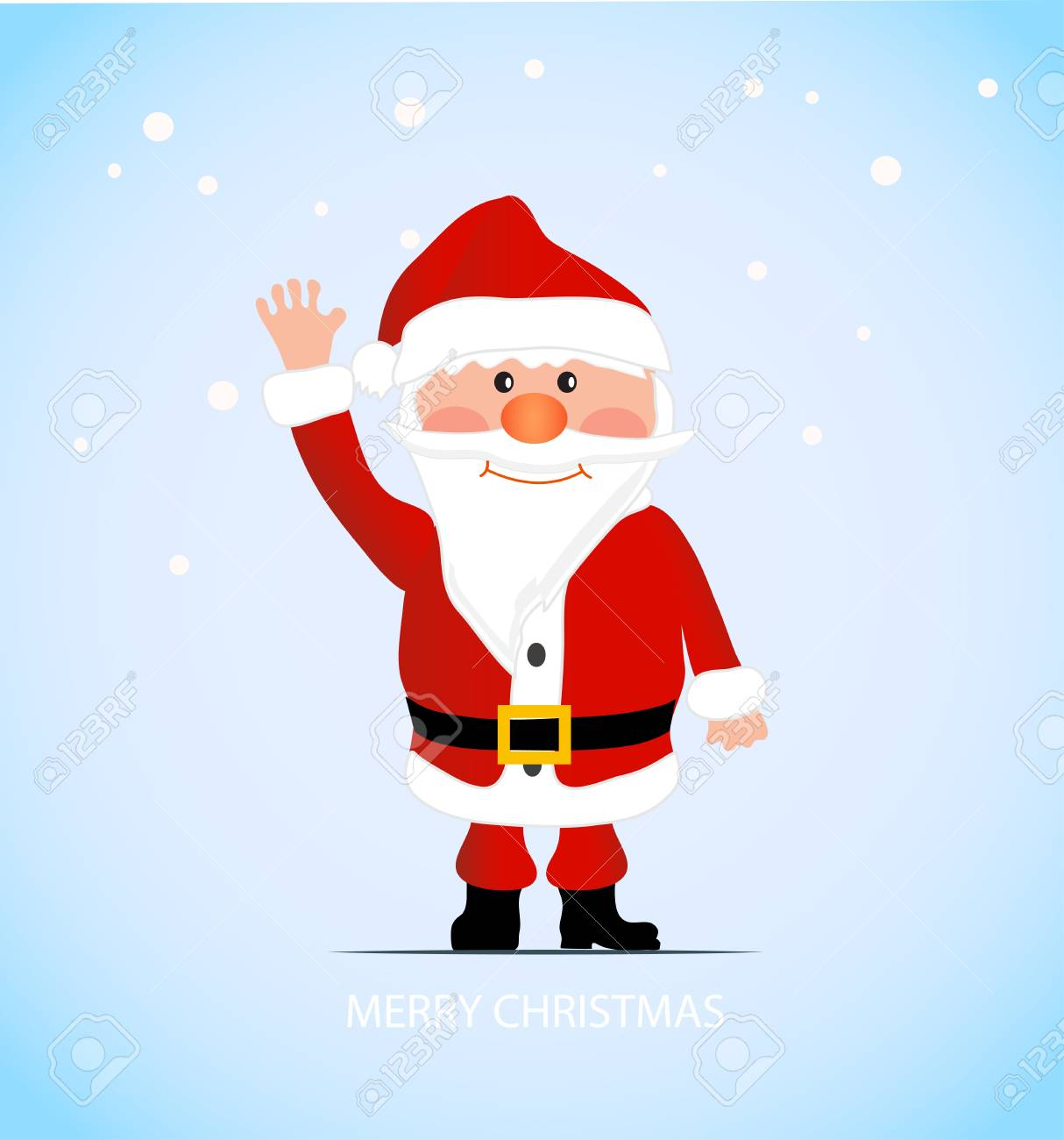 on the image cheerful Santa Claus is presented Stock Vector - 16530957