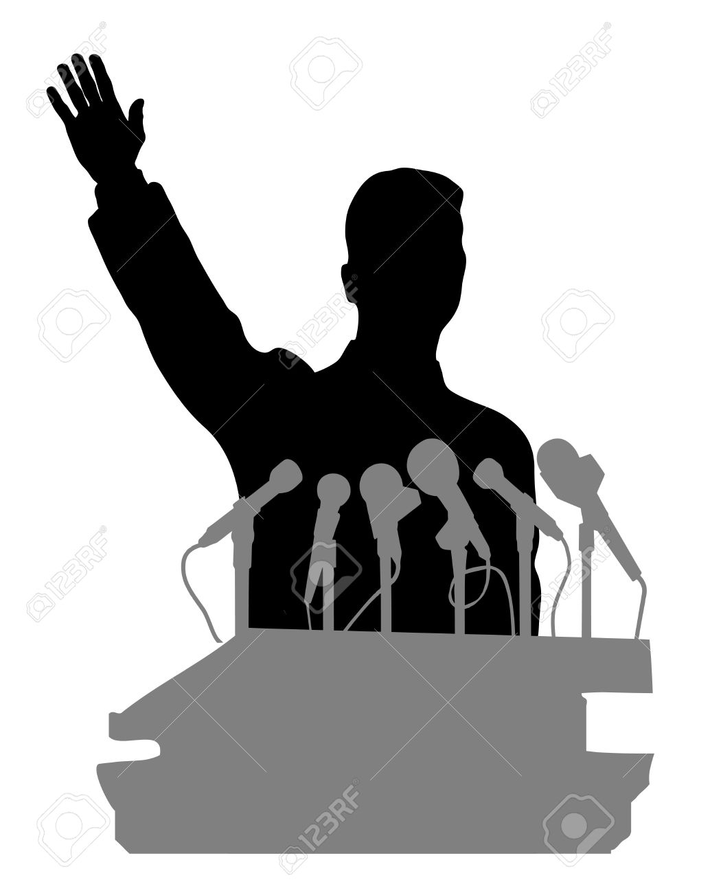 person before a microphone Stock Vector - 17157202