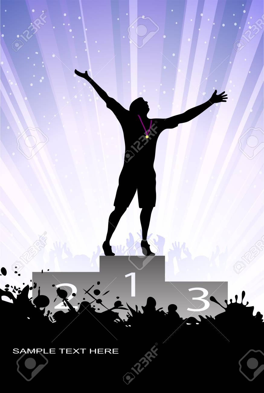 silhouette of the champion Stock Vector - 17857932