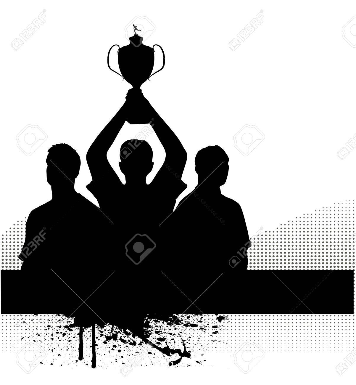 silhouette of the champion Stock Vector - 17857937