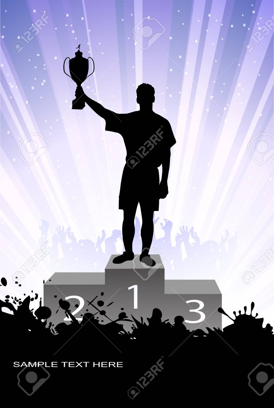 silhouette of the champion Stock Vector - 17857934