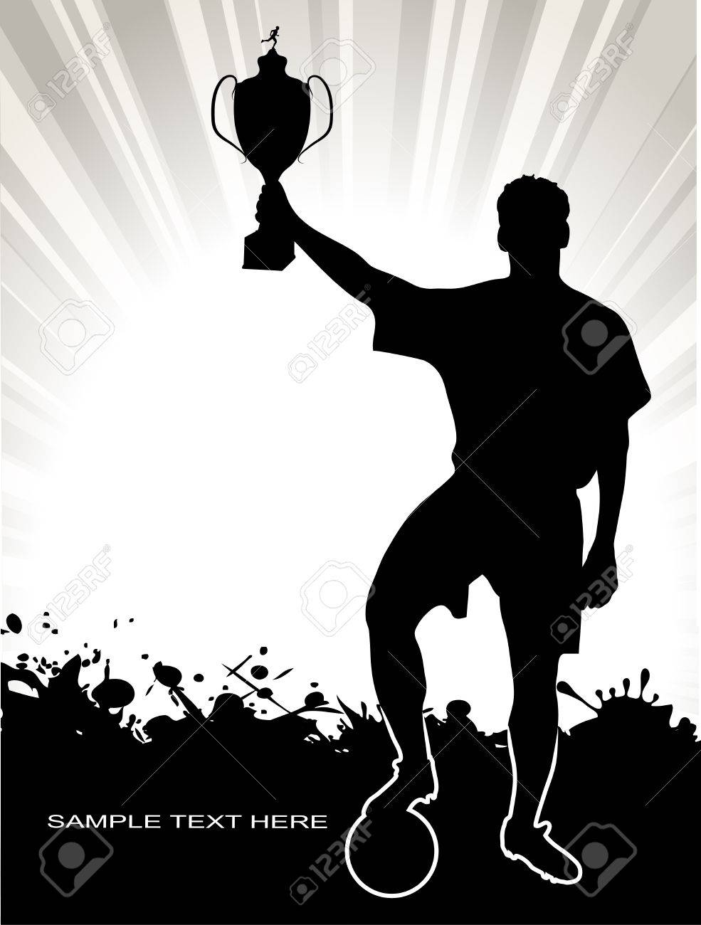 silhouette of the champion Stock Vector - 17857923