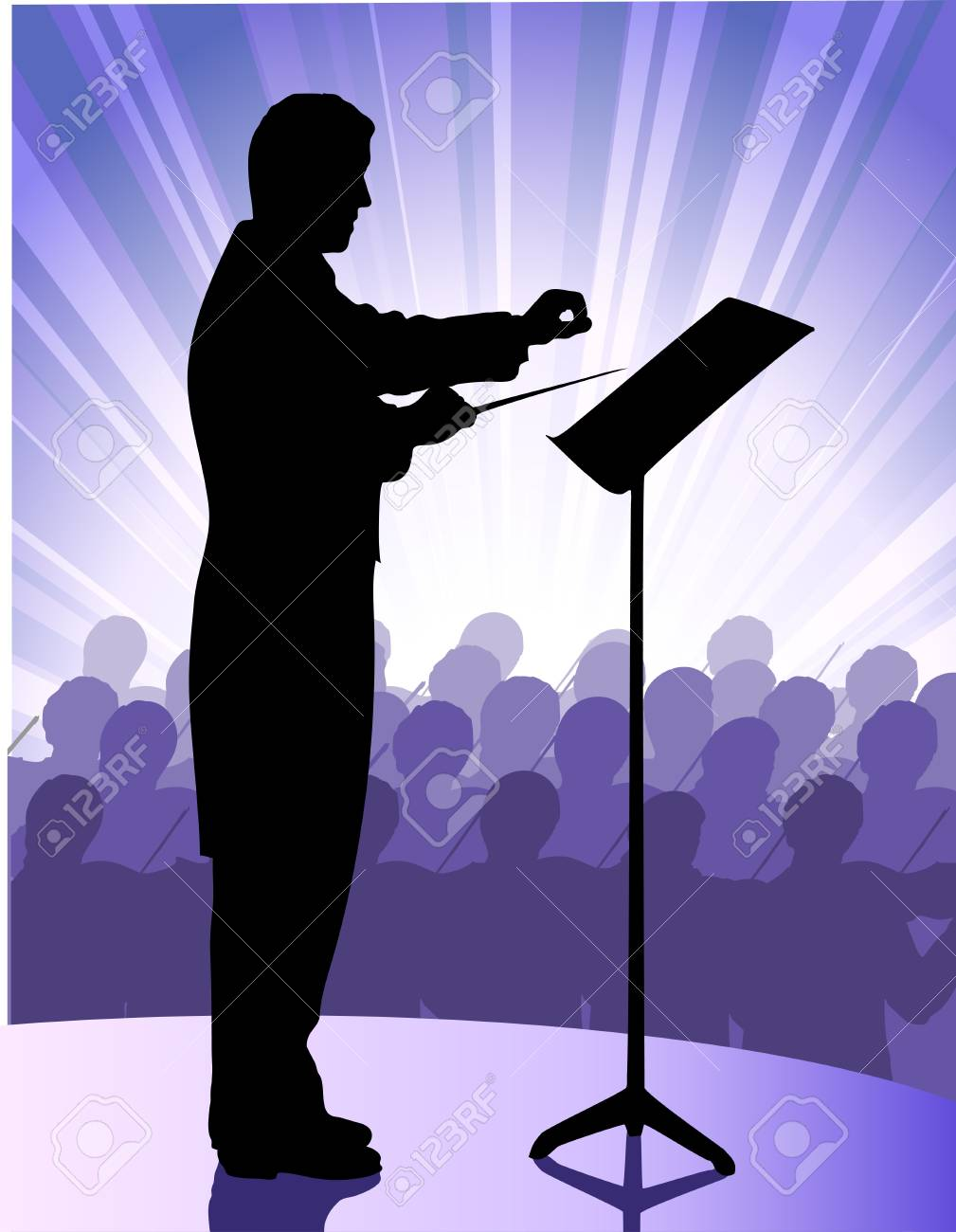 conductor before public Stock Vector - 18082022